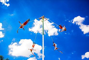 Voladores (The Flying Men), Tlaquepaque, Mexico, North America