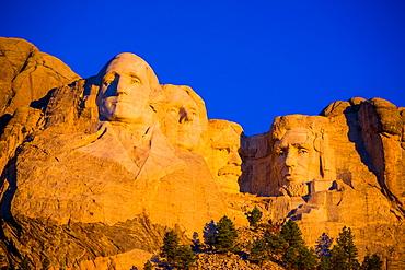 Sunrise at Mount Rushmore, Black Hills, South Dakota, United States of America, North America