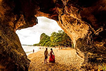 Sunset on Railay Beach in Krabi, Thailand, Southeast Asia, Asia