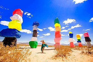 Seven Magic Mountains in Nevada, United States of America, North America
