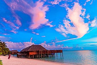 Beautiful scenery at Conrad Maldives Rangali Island, Maldives, Indian Ocean, Asia