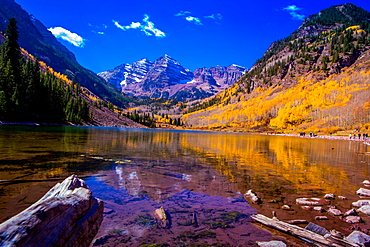 The Maroon Bells, Aspen, Colorado, United States of America, North America