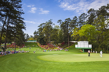 Looking to the 6th green and tee beyond at Augusta National Golf Club during the US Masters golf tournament, Augusta, Georgia, United States of America, North America