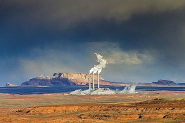 Navajo Generating Station, Navajo Indian Reserve, Page, Arizona, United States of America, North America