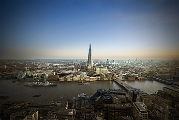The Shard and River Thames looking South, London, England, United Kingdom, Europe