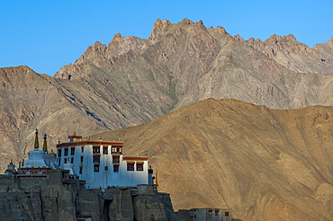 A view of the magnificent 1000-year-old Lamayuru Monastery in the remote region of Ladakh in northern India, India, Asia