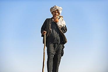 A Kuchi shepherd near Herat, Afghanistan, Asia
