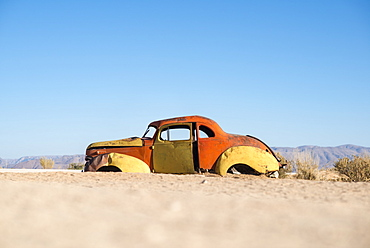 An abandoned car near the small town of Solitare, Namibia, Africa