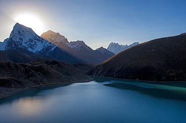 Gokyo Lake in the Everest region, Himalayas, Nepal, Asia