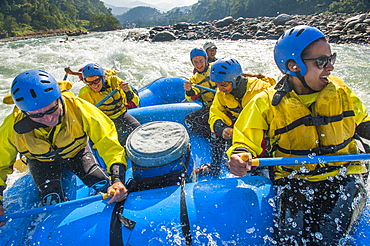 Rafting trip on the Trisuli River, Nepal, Asia