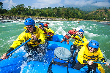 Rafting on the Trisuli River, Nepal, Asia