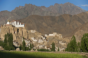 A view of the magnificent 1000-year-old Lamayuru Monastery in the remote region of Ladakh, northern India, Asia