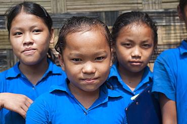School children from Rangamati, Chittagong Hill Tracts, Bangladesh, Asia