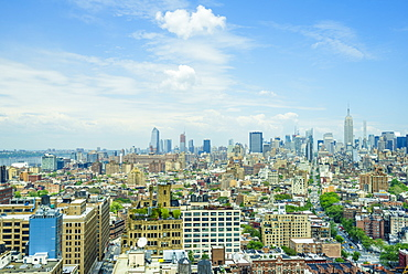 Manhattan skyline from SoHo to the Empire State Building, New York City, United States of America, North America
