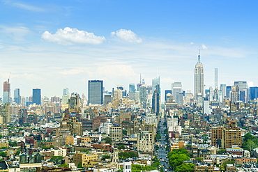Manhattan skyline with the Empire State Building, New York City, United States of America, North America