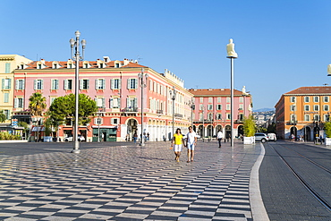 Place Messina, Nice, Alpes Maritimes, Cote d'Azur, Provence, France, Europe