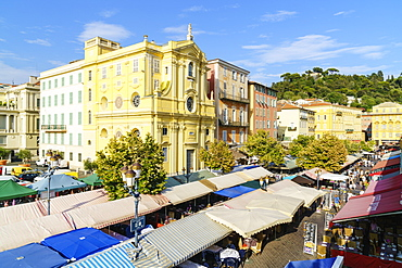 Market, Cours Saleya, Old Town, Nice, Alpes Maritimes, Cote d'Azur, Provence, France, Mediterranean, Europe