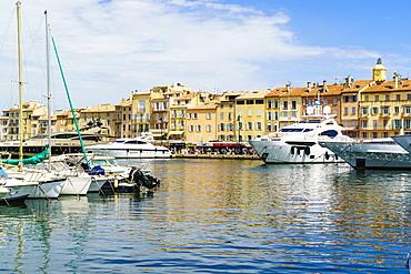 Harbour, Saint-Tropez, Var, Cote d'Azur, Provence, France, Mediterranean, Europe