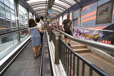 The Mid-Levels Escalator, Central, Hong Kong Island, Hong Kong, China, Asia