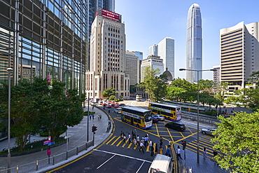 Central district, Hong Kong's busy financial centre, Hong Kong Island, Hong Kong, China, Asia