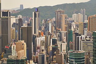 A jumble of skyscrapers in Causeway Bay, Hong Kong Island, Hong Kong, China, Asia