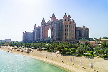 Atlantis, The Palm, a luxury hotel on the man-made Palm Jumeirah island, Dubai, United Arab Emirates, Middle East