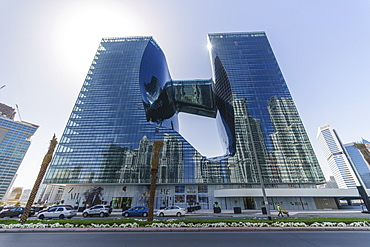 The Opus Building designed by architect Zaha Hadid, Business Bay, Dubai, United Arab Emirates, Middle East