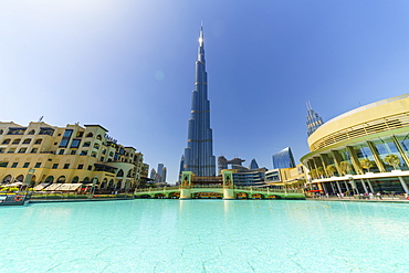 Burj Khalifa and Dubai Mall, Downtown, Dubai, United Arab Emirates, Middle East