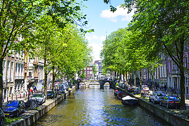 Leidsegracht canal, Amsterdam, North Holland, The Netherlands, Europe