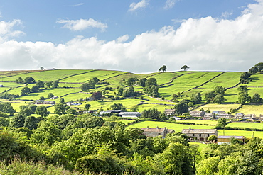The remote village of Thoralby in Wensleydale, The Yorkshire Dales, Yorkshire, England, United Kingdom, Europe