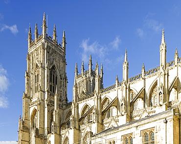 York Minster Bell Towers, York, North Yorkshire, Yorkshire, England, United Kingdom, Europe