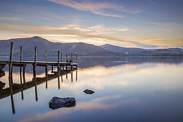 Watendlath Jetty, Derwent Water, Borrowdale, Lake District National Park, Cumbria, England, United Kingdom, Europe - 1228-44