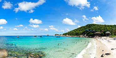 Tourists enjoy the clear waters of Koh Tao, Thailand, Southeast Asia, Asia