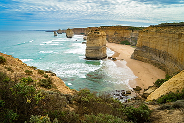 The Twelve Apostles geological formation a couple hours from Melbourne, Victoria, Australia, Pacific