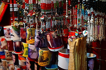 Souvenirs available at the Souk Hamidiyeh in the old city of Damascus, Syria, Middle East - 1234-1