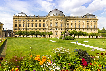 The Residence Palace, Hofgarten Park, UNESCO World Heritage Site, Wurzburg, Franconia, Bavaria, Germany, Europe