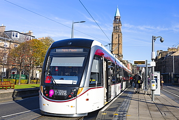 Edinburgh Tram, Edinburgh, Lothian, Scotland, United Kingdom, Europe