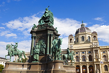 Maria Theresa Monument and Museum of Natural History, Vienna, Austria, Europe