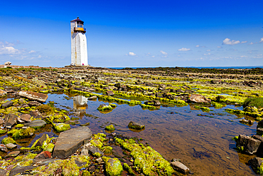 Southerness Lighthouse, Solway Coast, Dumfries and Galloway, Scotland, United Kingdom, Europe