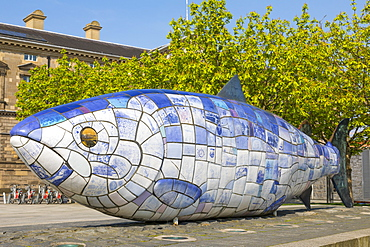 Big Fish, Donegall Quay, Belfast, Ulster, Northern Ireland, United Kingdom, Europe