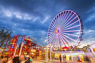 Blumenrad, Ferris Wheel, Wurstelprater Amusement Park, Vienna, Austria, Europe