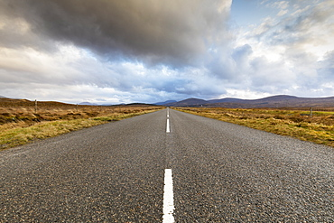 A859 road on the Isle of Lewis, Outer Hebrides, Scotland, United Kingdom, Europe