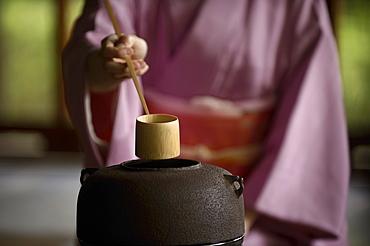 Tea ceremony in Shodensanso, Kyoto, Japan, Asia