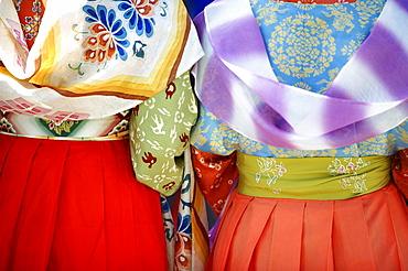 Kudarao ladies' colorful kimonos, Jidai festival, Kyoto, Japan, Asia