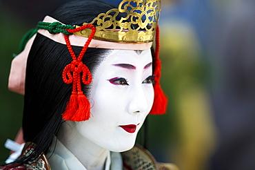 Female Samurai Tomoe Gozen, Jidai festival, Kyoto, Japan, Asia