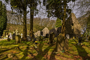 Killeavy Old Churches, Slieve Gullion, County Armagh, Ulster, Northern Ireland, United Kingdom, Europe