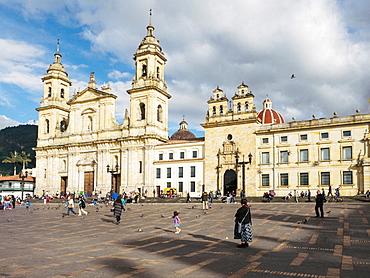Catedral Primera de Bogota, Bogota Cathedral, Plaza de Bolivar, Bogota, Colombia, South America