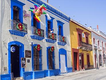 Colorful street, Oaxaca, Mexico, North America