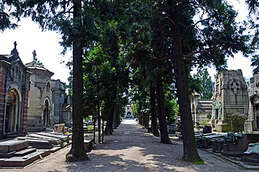 The Monumental Cemetery, more than just a simple cemetery, is an extraordinary outdoor museum, Milan, Lombardy, Italy, Europe
