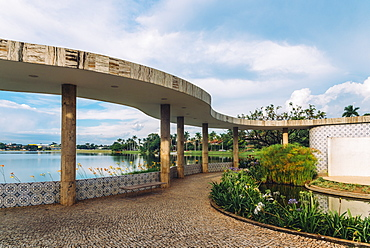 Pampulha Modern Ensemble (ref 1493) Ballroom designed by architect Oscar Niemeyer, UNESCO World Heritage Site, Belo Horizonte, Minas Gerais, Brazil, South America